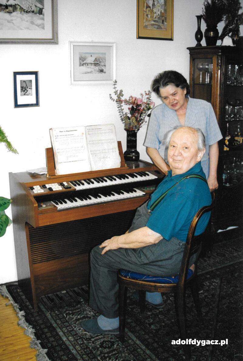 Adolf Dygacz z żoną - Janiną Lipińską-Dygacz